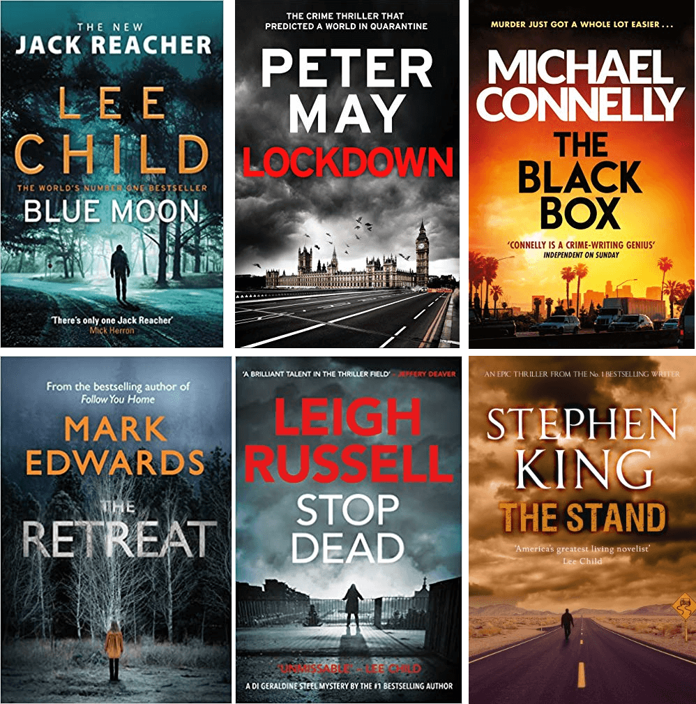 Thriller book covers